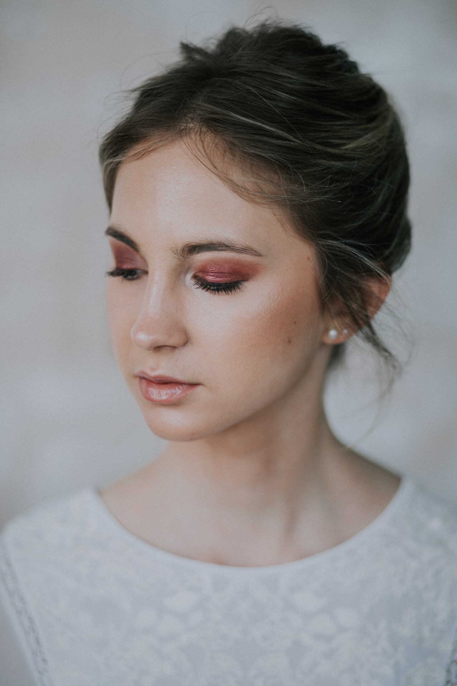 Colourful bridal makeup
